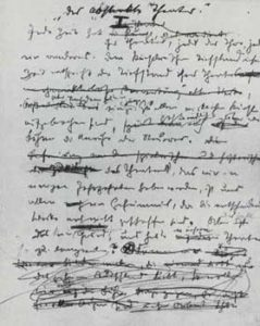 Franz Marc, Fragmentary First Page