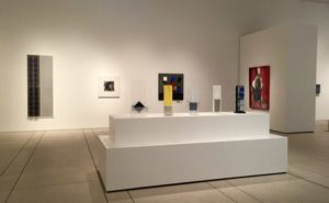 Installation view, Vapor and Vibration: The Art of Larry Bell and Jesús Rafael Soto, Tampa Museum of Art